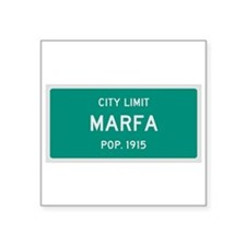 Marfa, Texas City Limits Sticker
