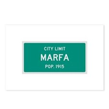 Marfa, Texas City Limits Postcards (Package of 8)