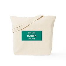 Marfa, Texas City Limits Tote Bag