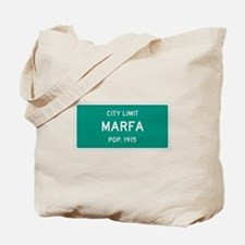 Marfa, Texas City Limits Tote Bag