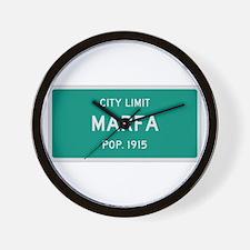 Marfa, Texas City Limits Wall Clock