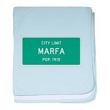 Marfa, Texas City Limits baby blanket