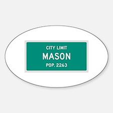 Mason, Texas City Limits Decal