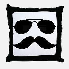 Macho Mustache Throw Pillow