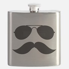 Macho Mustache Flask