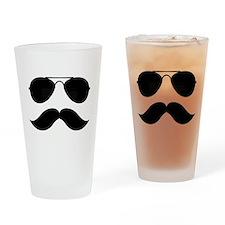 Macho Mustache Drinking Glass