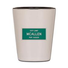McAllen, Texas City Limits Shot Glass