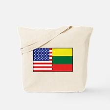 USA/Lithuania Tote Bag