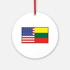 USA/Lithuania Ornament (Round)