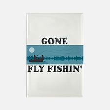 Gone Fly Fishin' Rectangle Magnet