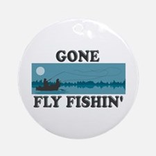 Gone Fly Fishin' Ornament (Round)