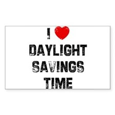 I * Daylight Savings Time Rectangle Decal