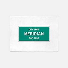 Meridian, Texas City Limits 5'x7'Area Rug