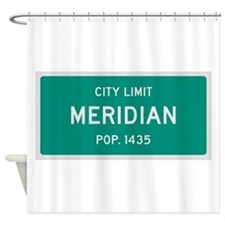 Meridian, Texas City Limits Shower Curtain