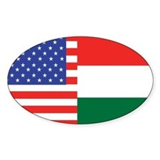 USA/Hungary Oval Decal