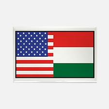 USA/Hungary Rectangle Magnet