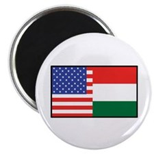 """USA/Hungary 2.25"""" Magnet (10 pack)"""