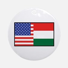 USA/Hungary Ornament (Round)