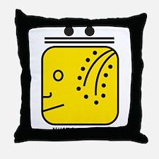 YELLOW Magnetic HUMAN Throw Pillow