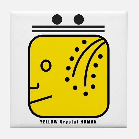 YELLOW Magnetic HUMAN Tile Coaster