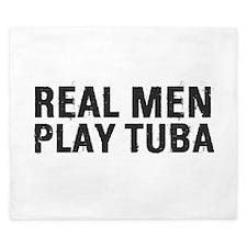 Real Men Play Tuba King Duvet