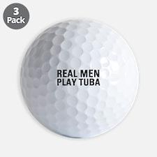 Real Men Play Tuba Golf Ball