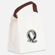 Scribbled Monogram Q Canvas Lunch Bag