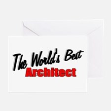 """The World's Best Architect"" Greeting Cards (Packa"