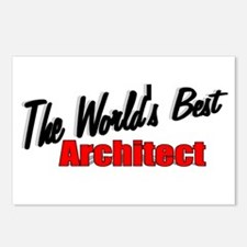 """""""The World's Best Architect"""" Postcards (Package of"""