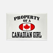 Property of a Canadian Girl Rectangle Magnet