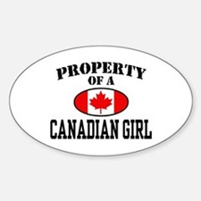 Property of a Canadian Girl Oval Decal