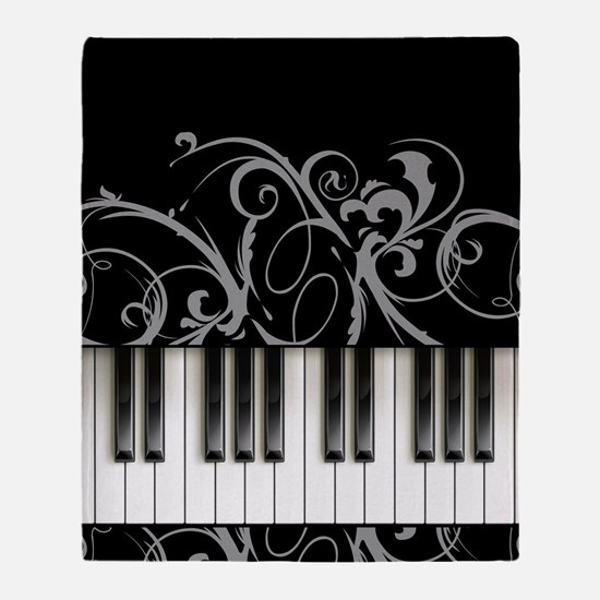 Piano Keyboard Throw Blanket