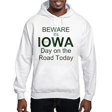 Beware IOWA Road Front Hoodie