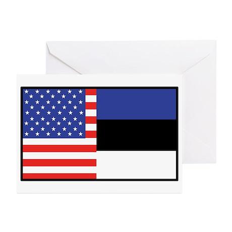 USA/Estonia Greeting Cards (Pk of 10)