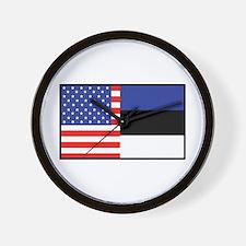 USA/Estonia Wall Clock