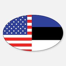 USA/Estonia Oval Decal