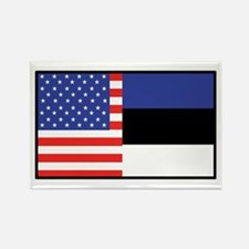USA/Estonia Rectangle Magnet