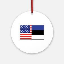 USA/Estonia Ornament (Round)