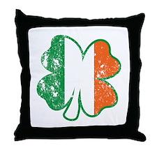Clover Ireland Flag Throw Pillow