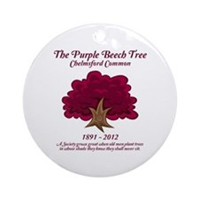 Chelmsford Purple Beech Tree Ornament (Round)
