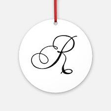 Champagne Monogram R Ornament (Round)