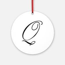 Champagne Monogram Q Ornament (Round)