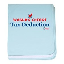 Cutest Tax Deduction baby blanket