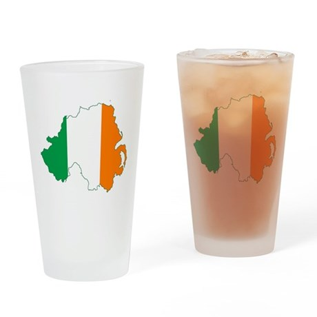 Northern Ireland (Map with Tri-Colour Flag) Drinki