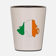 Northern Ireland (Map with Tri-Colour Flag) Shot G