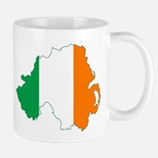 Northern Ireland (Map with Tri-Colour Flag) Mug