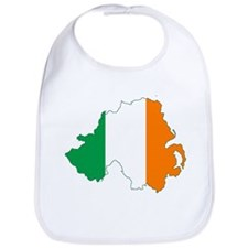 Northern Ireland (Map with Tri-Colour Flag) Bib
