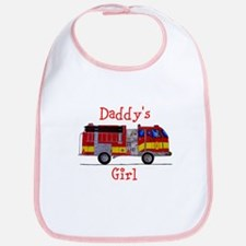 Daddy's Girl Firetruck Bib