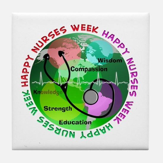 happy nurses week 2013 2 Tile Coaster