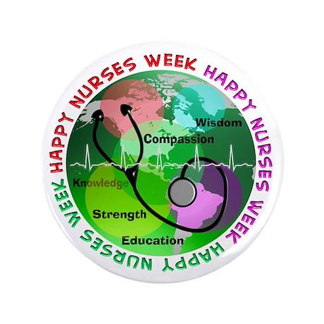 "happy nurses week 2013 2 3.5"" Button (100 pack)"